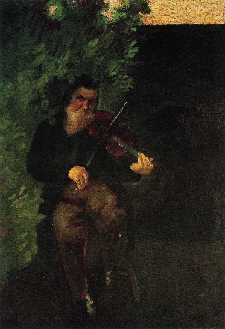 The old violinist - August Macke