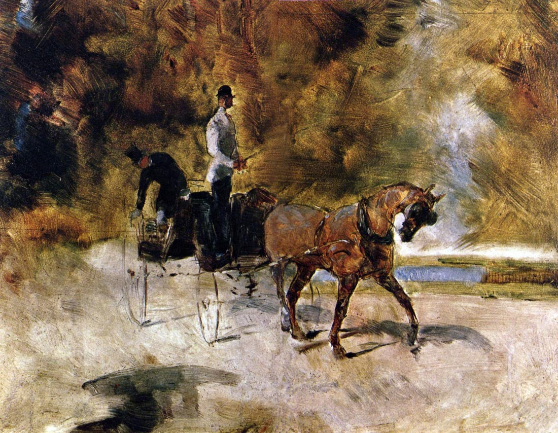 The one horse Carraige - Toulouse-Lautrec