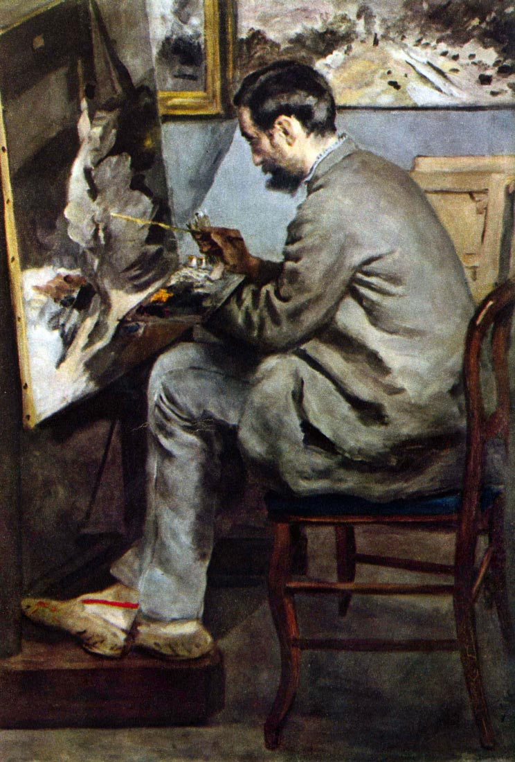 The painter in the studio of Bazille - Renoir