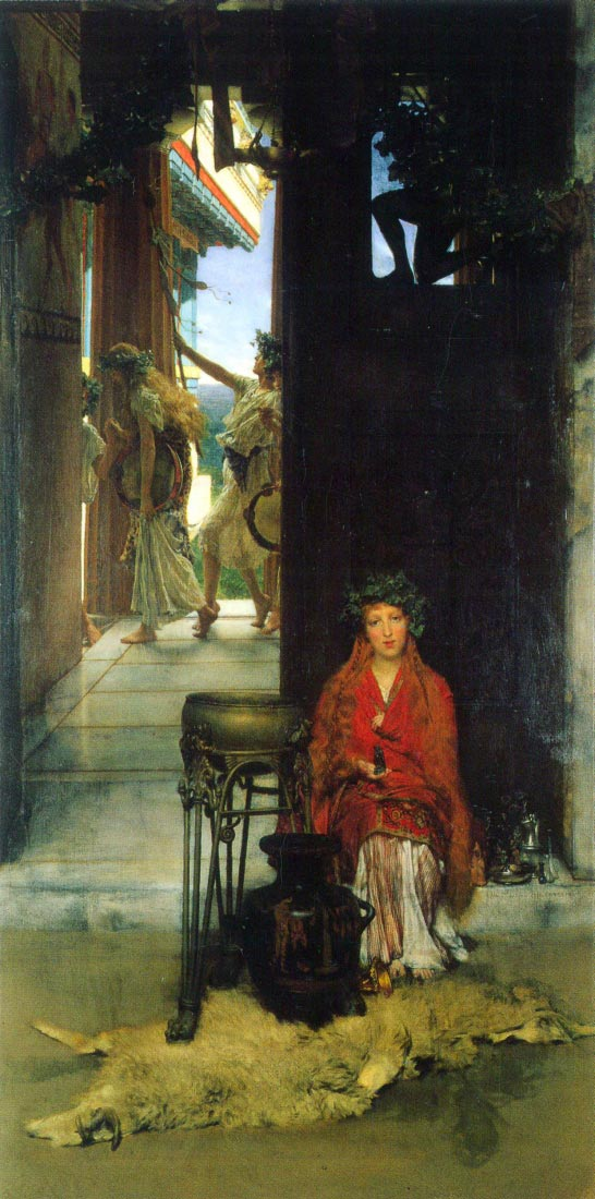 The path to the temple - Alma-Tadema