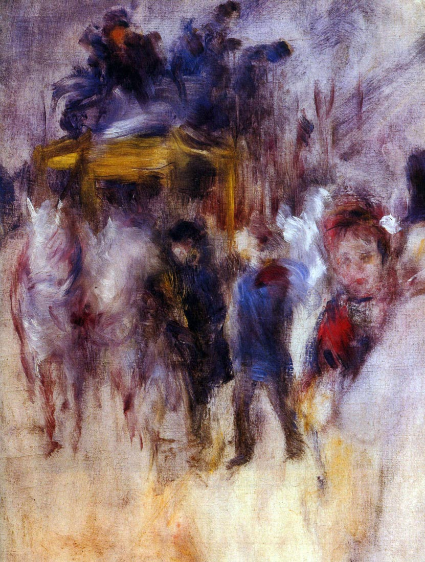 The place Clichy (Detail) - Renoir