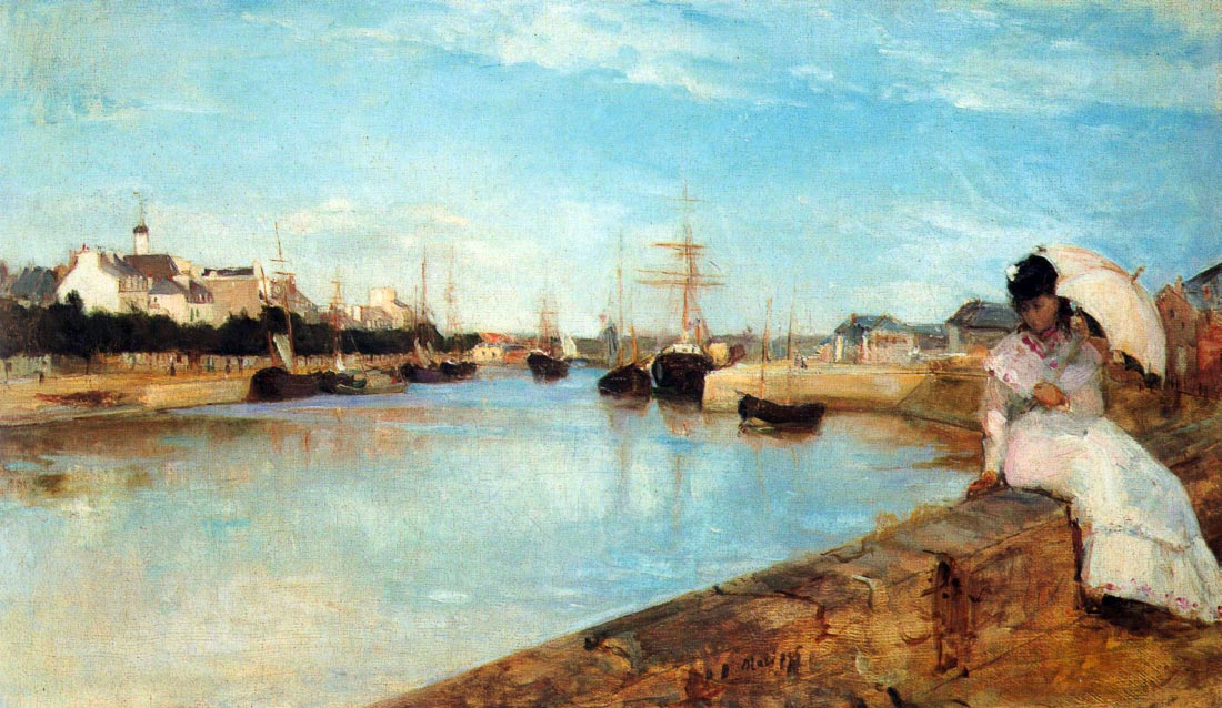The port of Lorient - Morisot