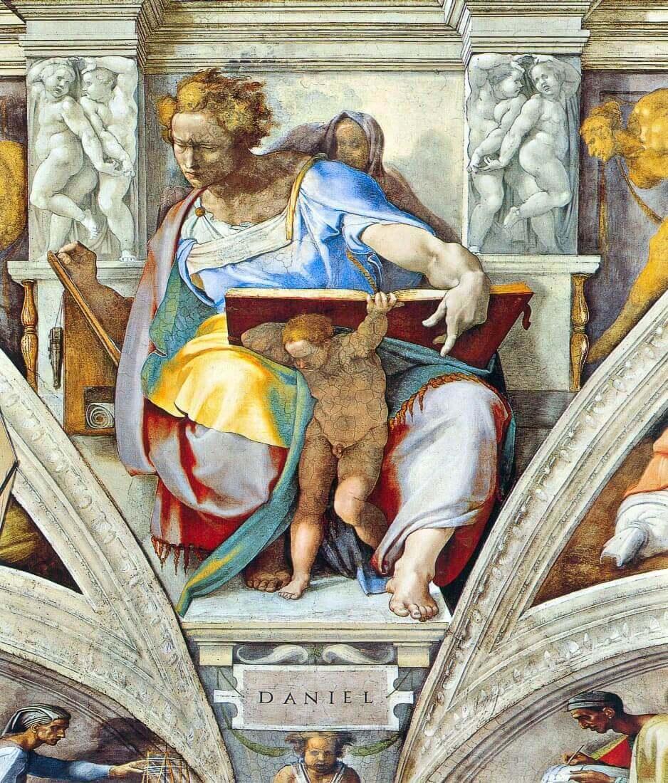 The prophet Daniel - Michelangelo