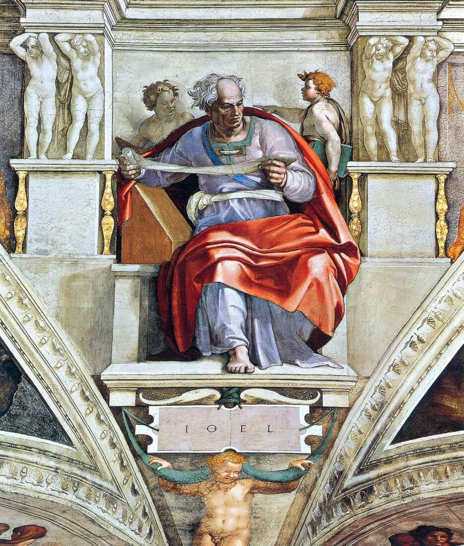 The prophet Joel - Michelangelo