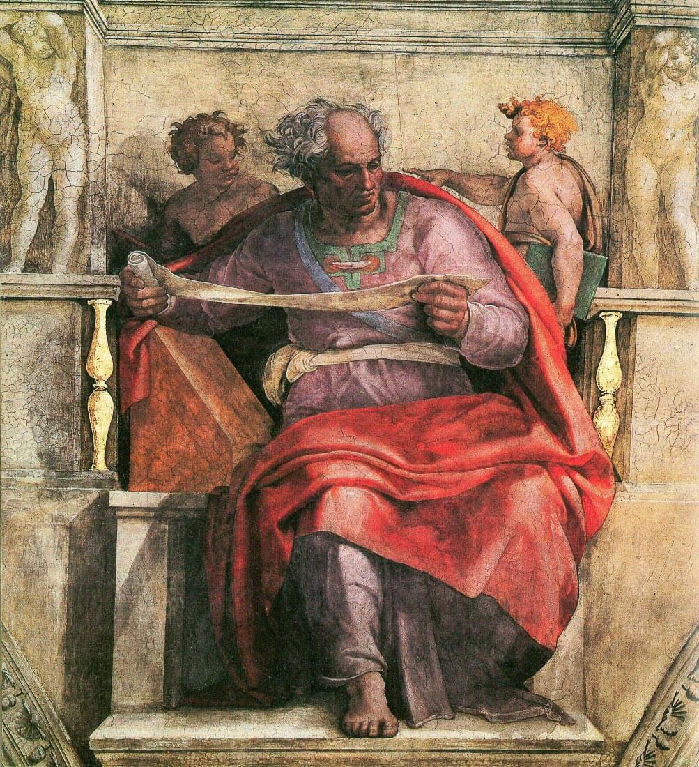 The prophet Joel detail - Michelangelo