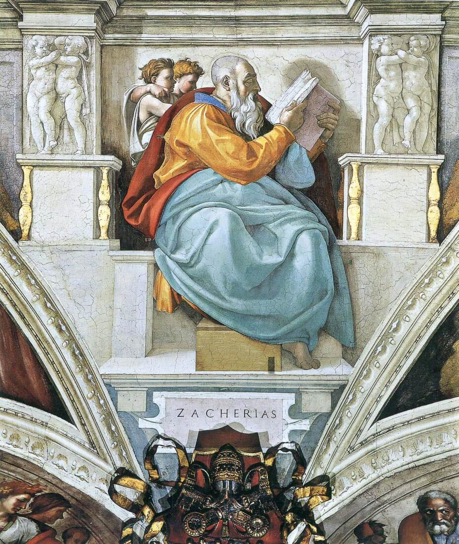 The prophet Zacharias detail - Michelangelo