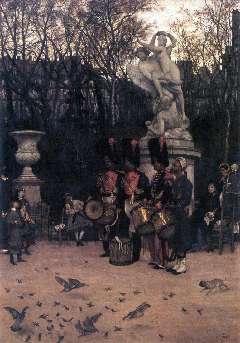 The return march in the Tuileries - Tissot
