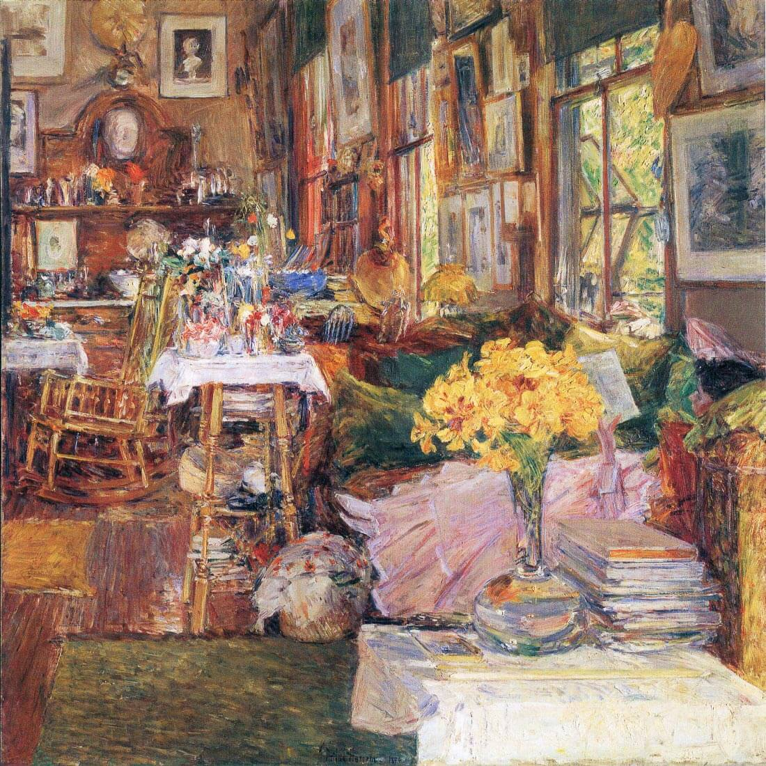 The room of flowers - Hassam