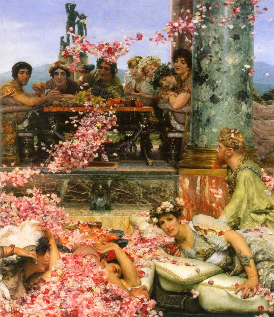 The roses of Heliogabalus detail 2 - Alma-Tadema