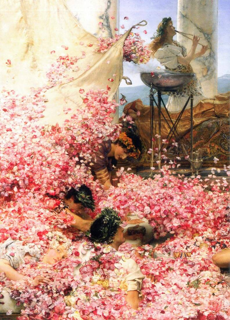 The roses of Heliogabalus detail - Alma-Tadema