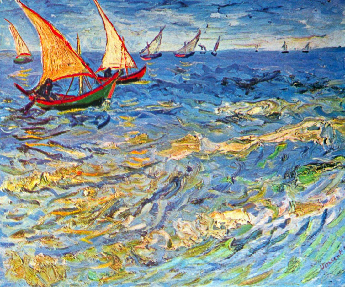 The sea at Saintes-Maries - Van Gogh