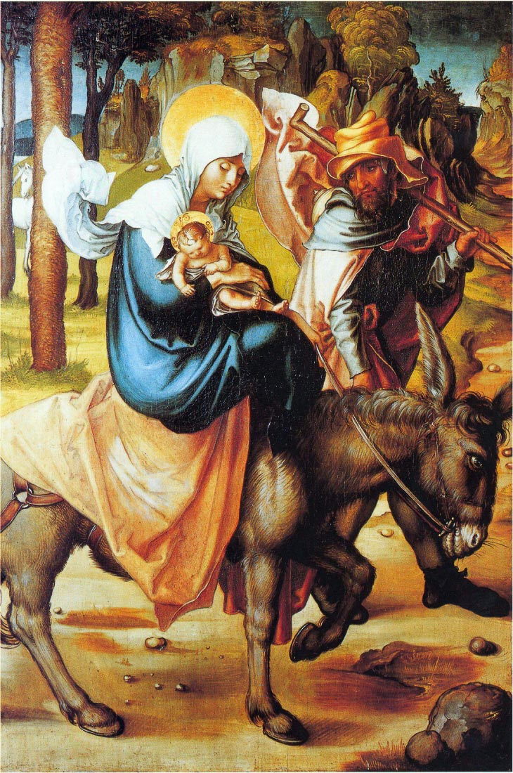 The seven Marys pain - Flight into Egypt - Durer