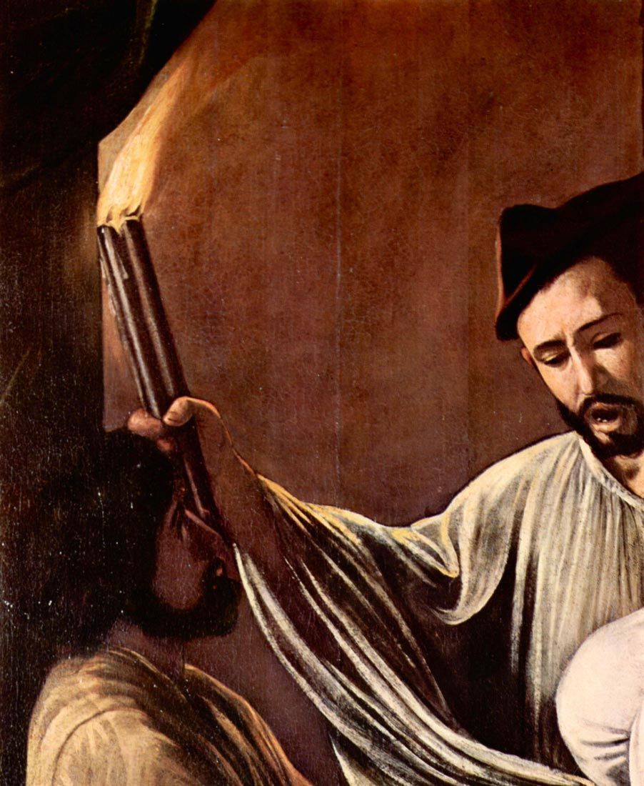 The seven works of mercy detail - Caravaggio