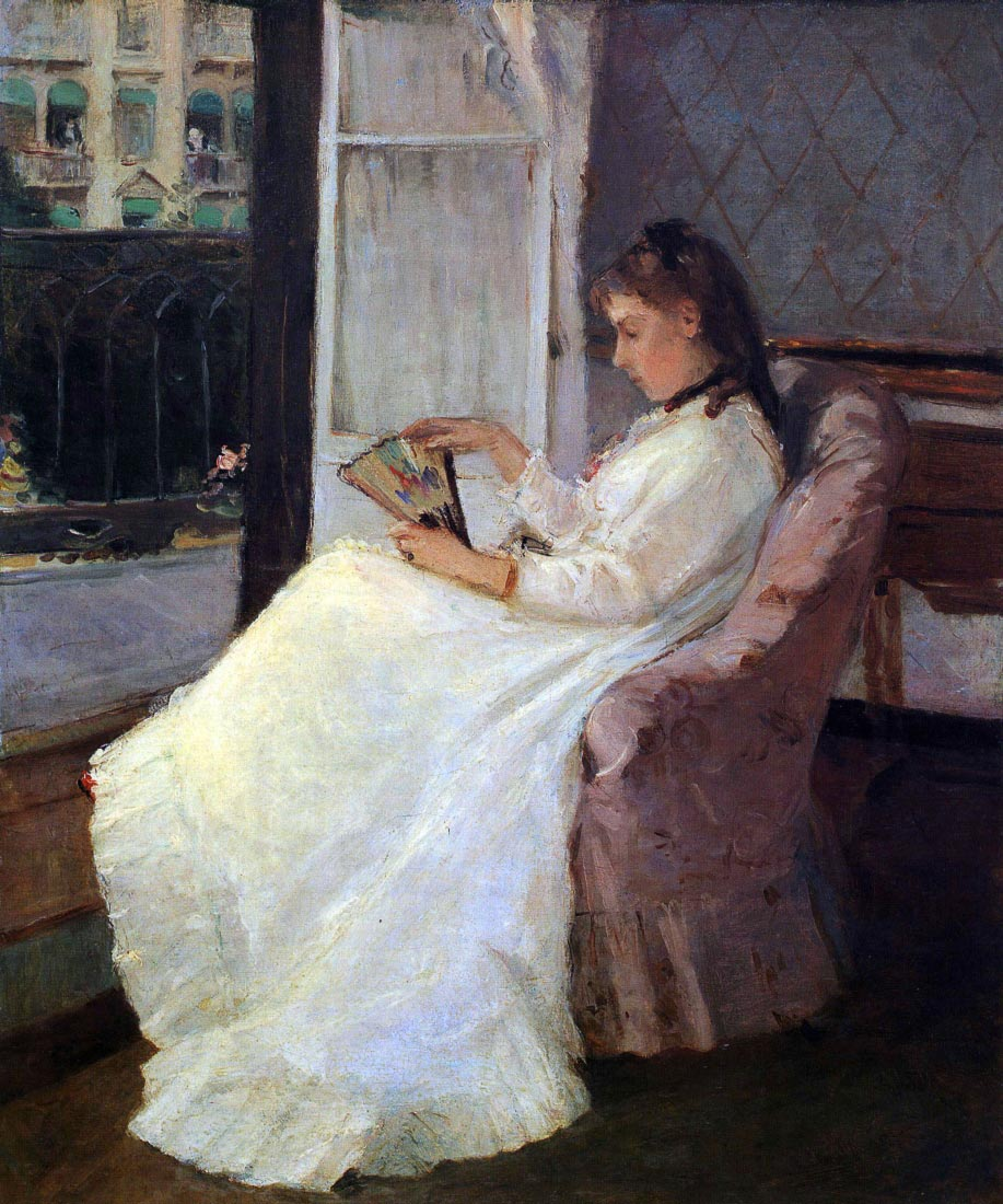 The sister of the artist at a window - Morisot
