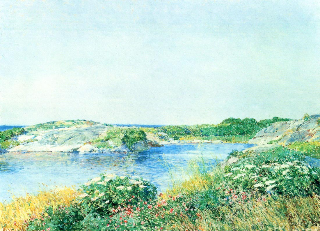 The small pond - Hassam