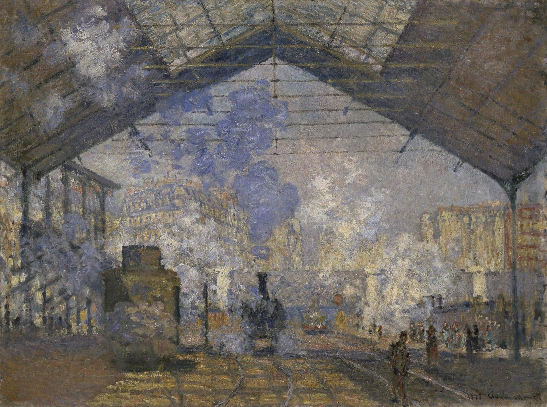 The station Saint-Lazare - Monet