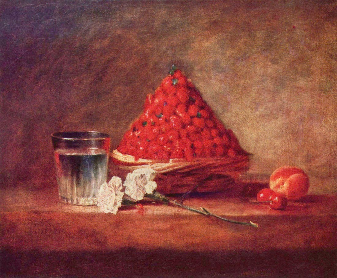 The strawberry basket - Jean Chardin