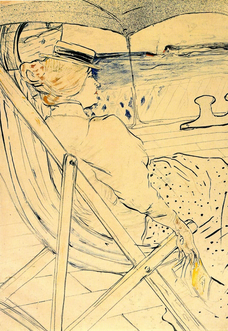 The traveller - Toulouse-Lautrec