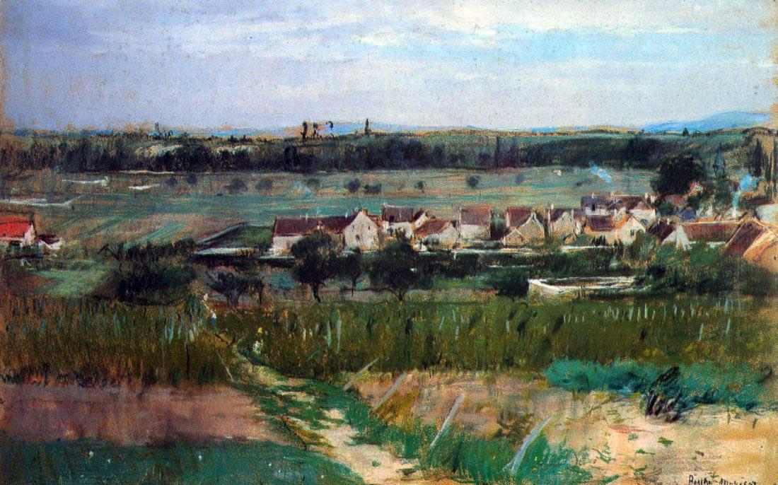 The village at Maurecourt - Morisot