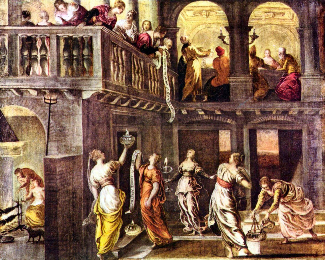 The wise and foolish virgins - Tintoretto