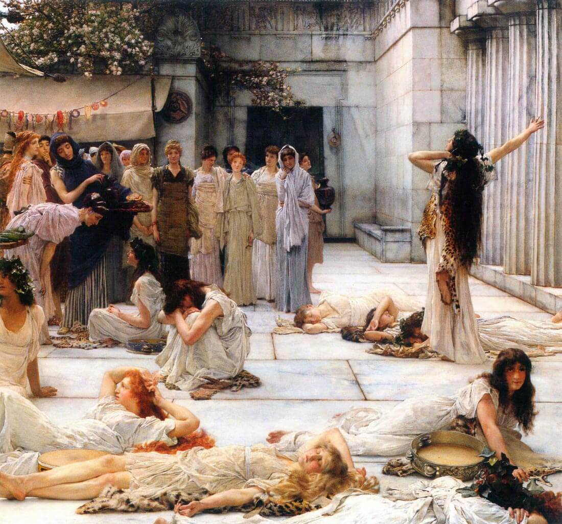 The women of Amphissa, detail - Alma-Tadema