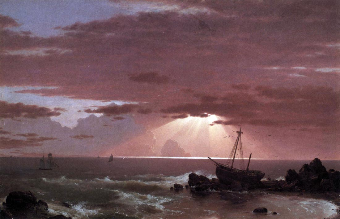The wreck - Frederick Edwin Church