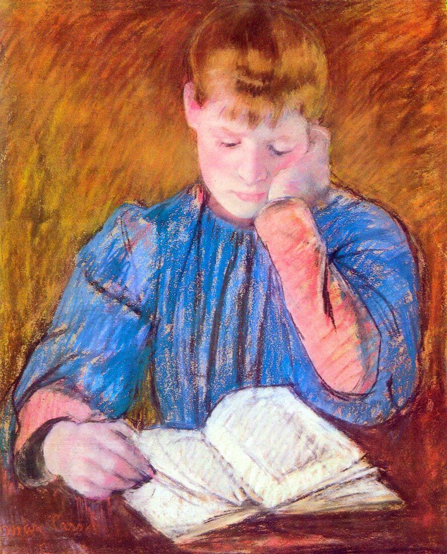 Thoughtful reader - Cassatt