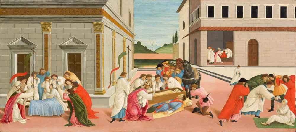 Three Miracles of Saint Zenobius - Sandro Botticelli