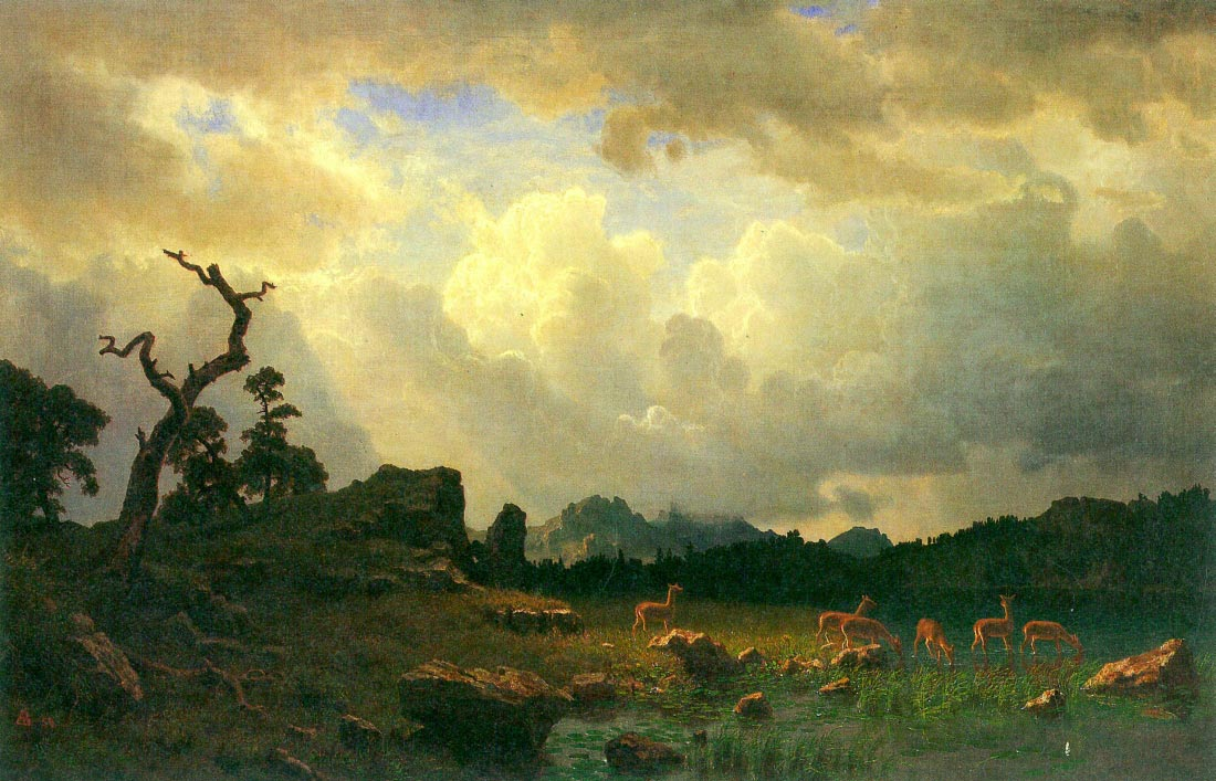 Thunderstorms in the Rocky Mountains - Bierstadt