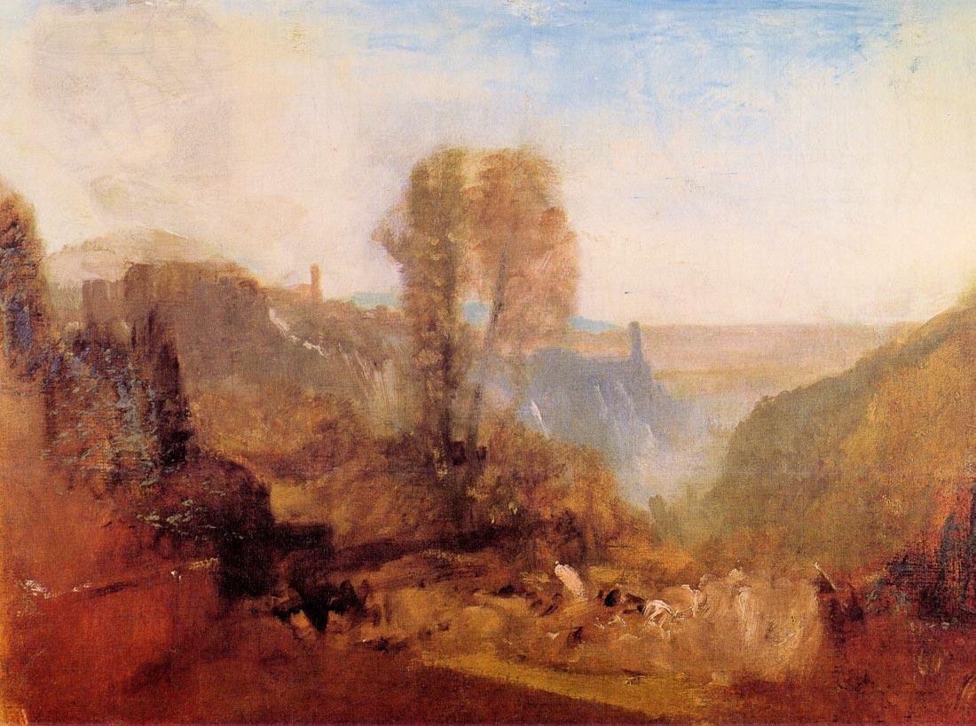 Tivoli castle - Joseph Mallord Turner