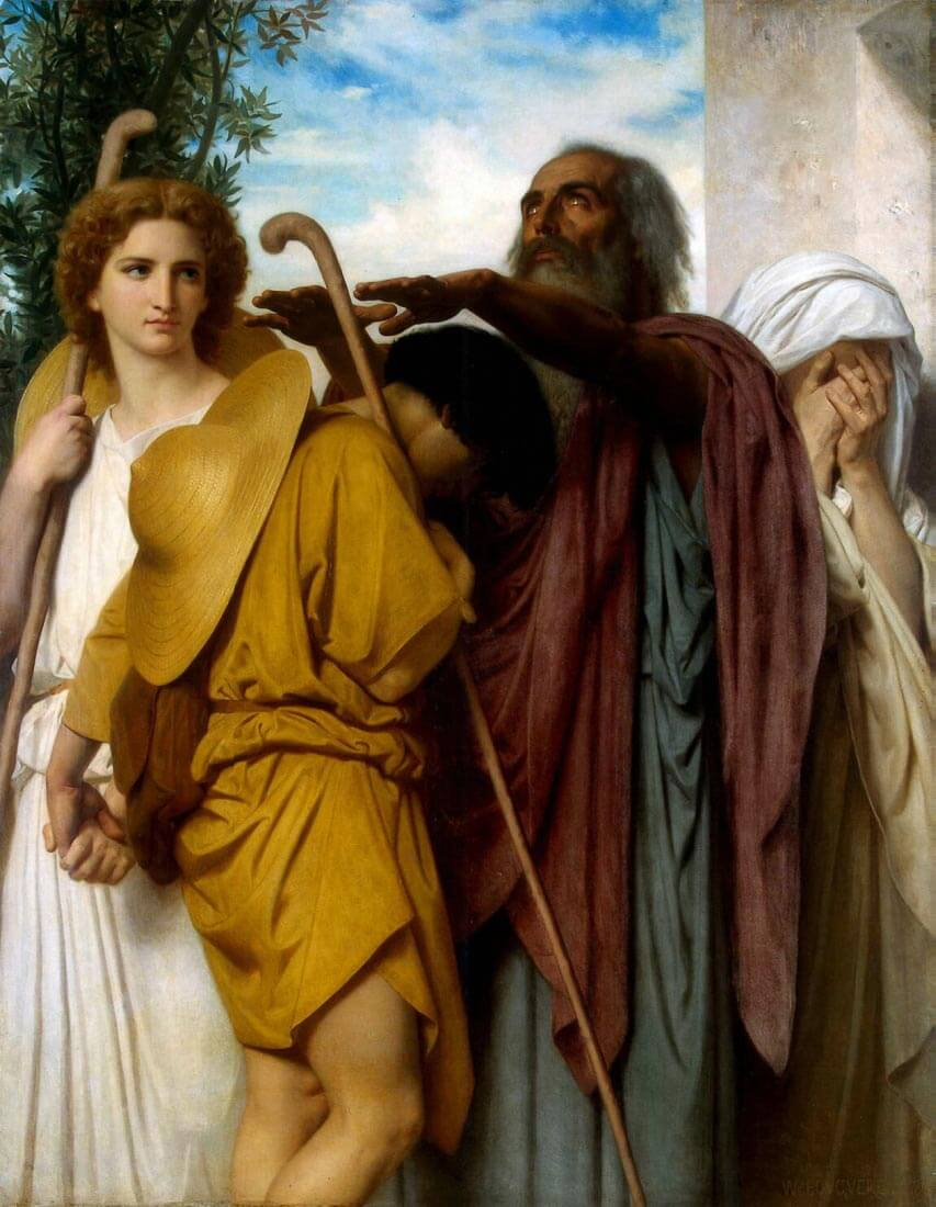 Tobias Saying Good-Bye to his Father - Bouguereau