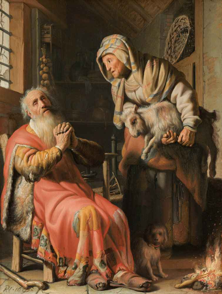 Tobit and Anna with the Kid - Rembrandt Harmenszoon van Rijn