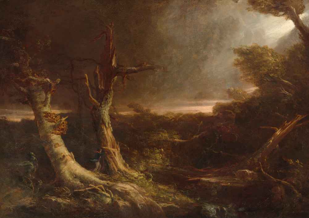 Tornado in an American Forest - Thomas Cole