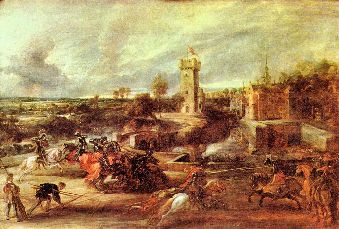 Tournament at a castle - Rubens
