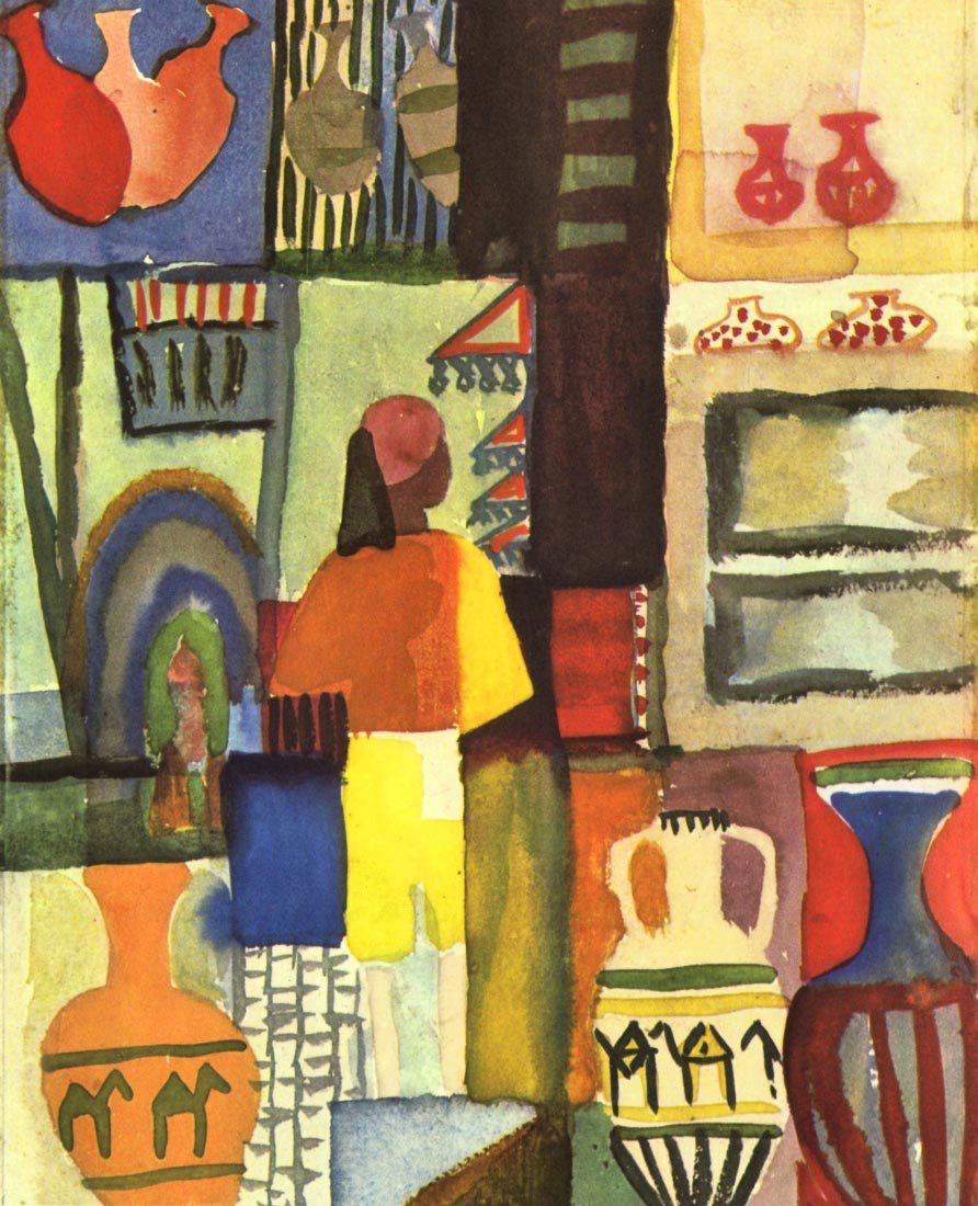 Traders with jugs - August Macke