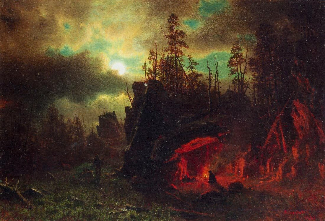 Trappers camp - Bierstadt