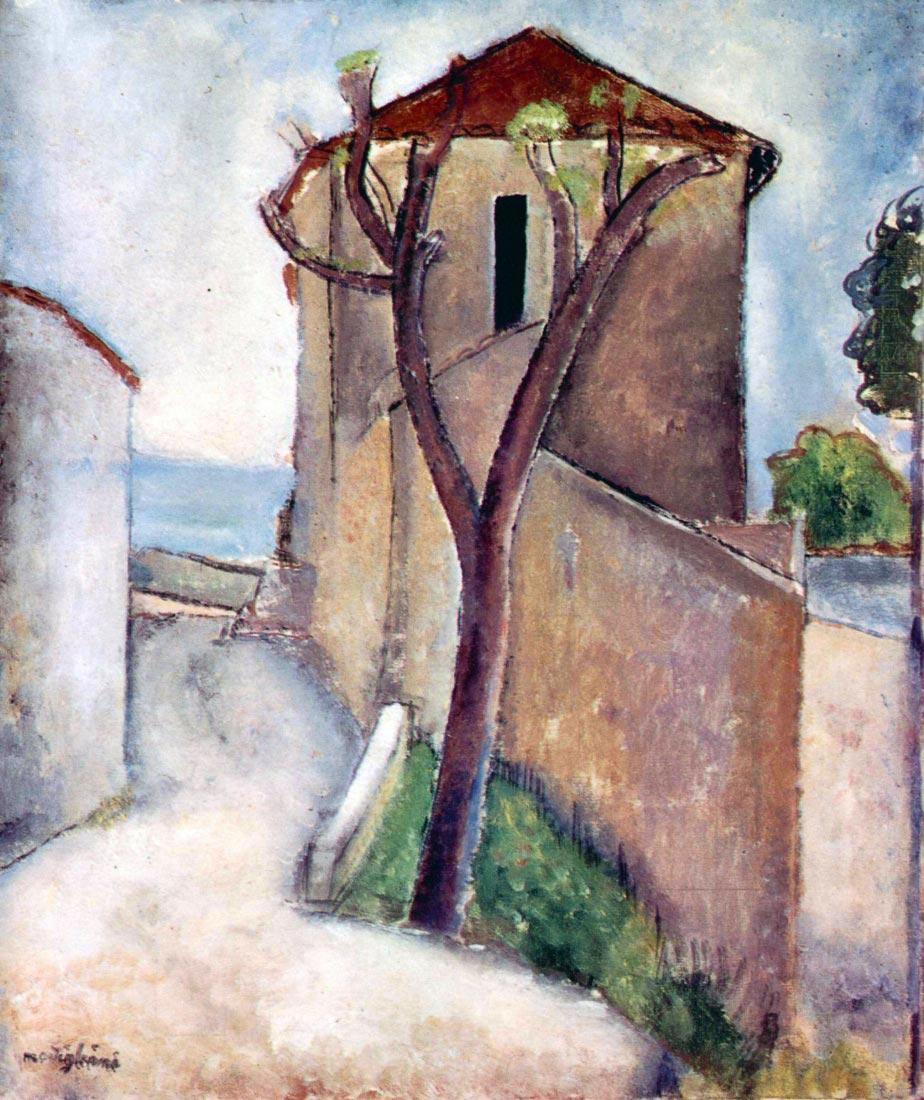 Tree and House - Modigliani