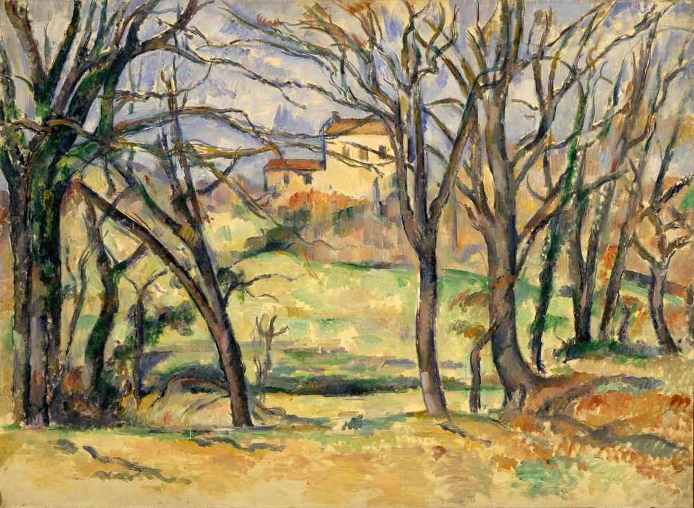 Trees and Houses Near the Jas de Bouffan - Paul Cezanne