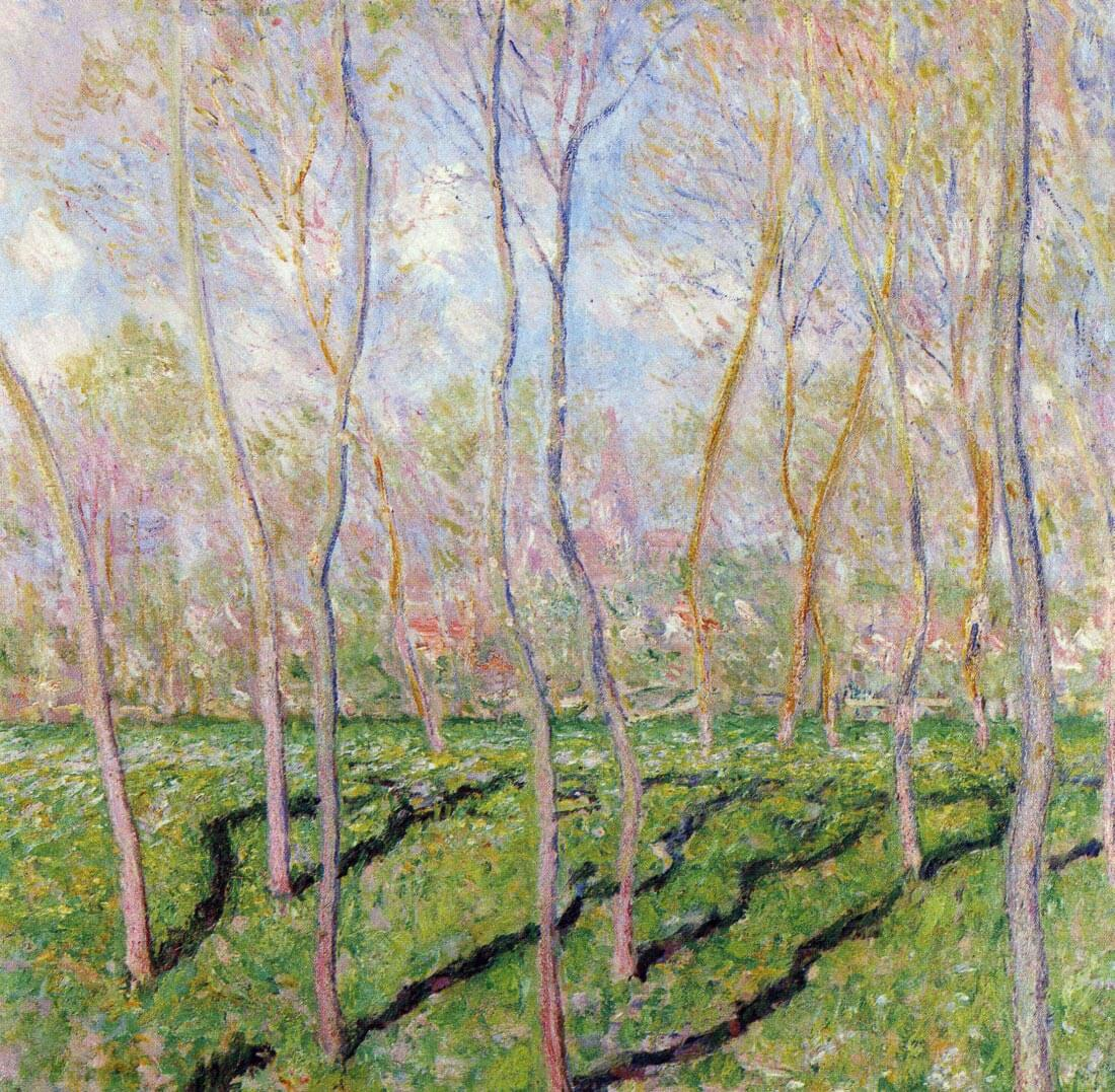 Trees in winter, look at Bennecourt - Monet