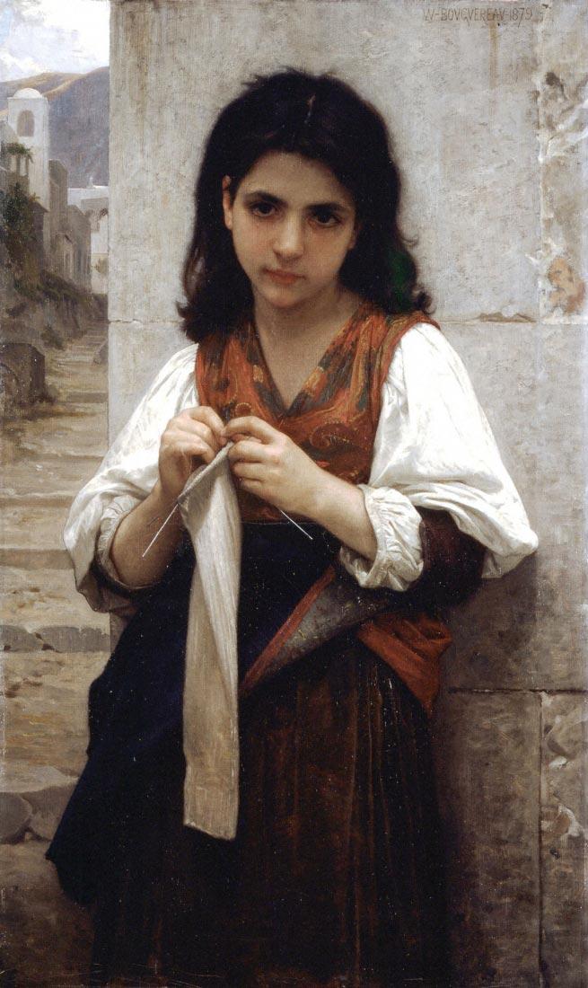 Tricoteuse - Bouguereau