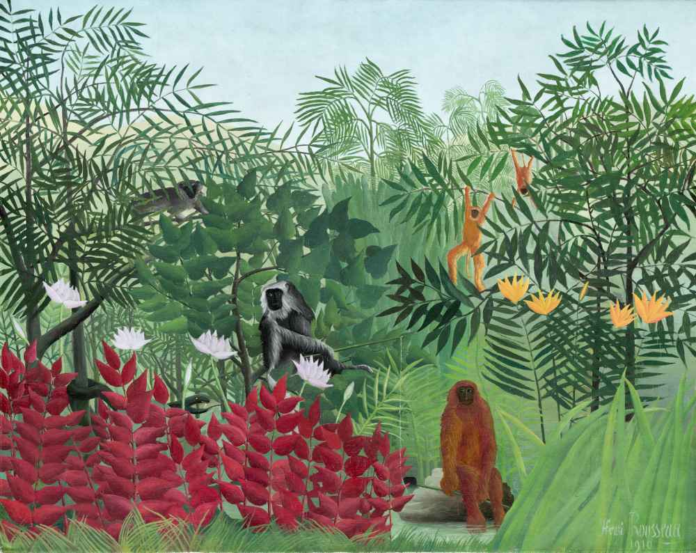 Tropical Forest with Monkeys - Henri Rousseau