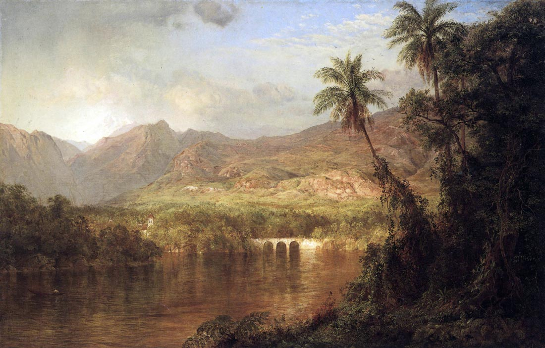 Tropical Scene - Frederick Edwin Church