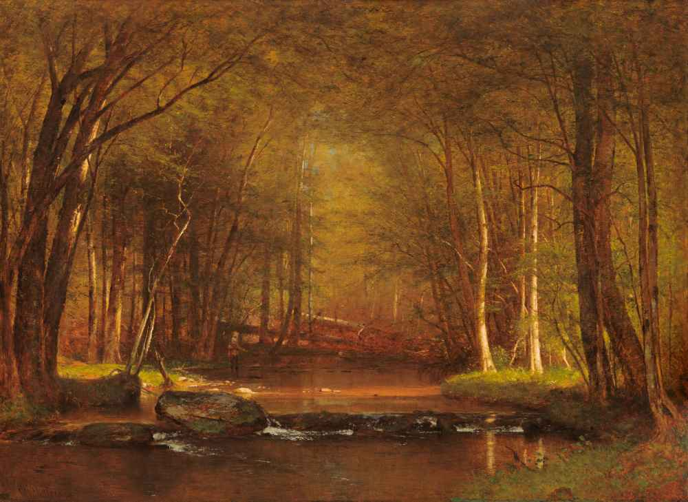 Trout Brook in the Catskills - Worthington Whittredge