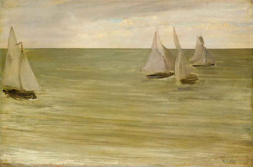 Trouville (Grey and Green, the Silver Sea) - James Abbott McNeill Whis