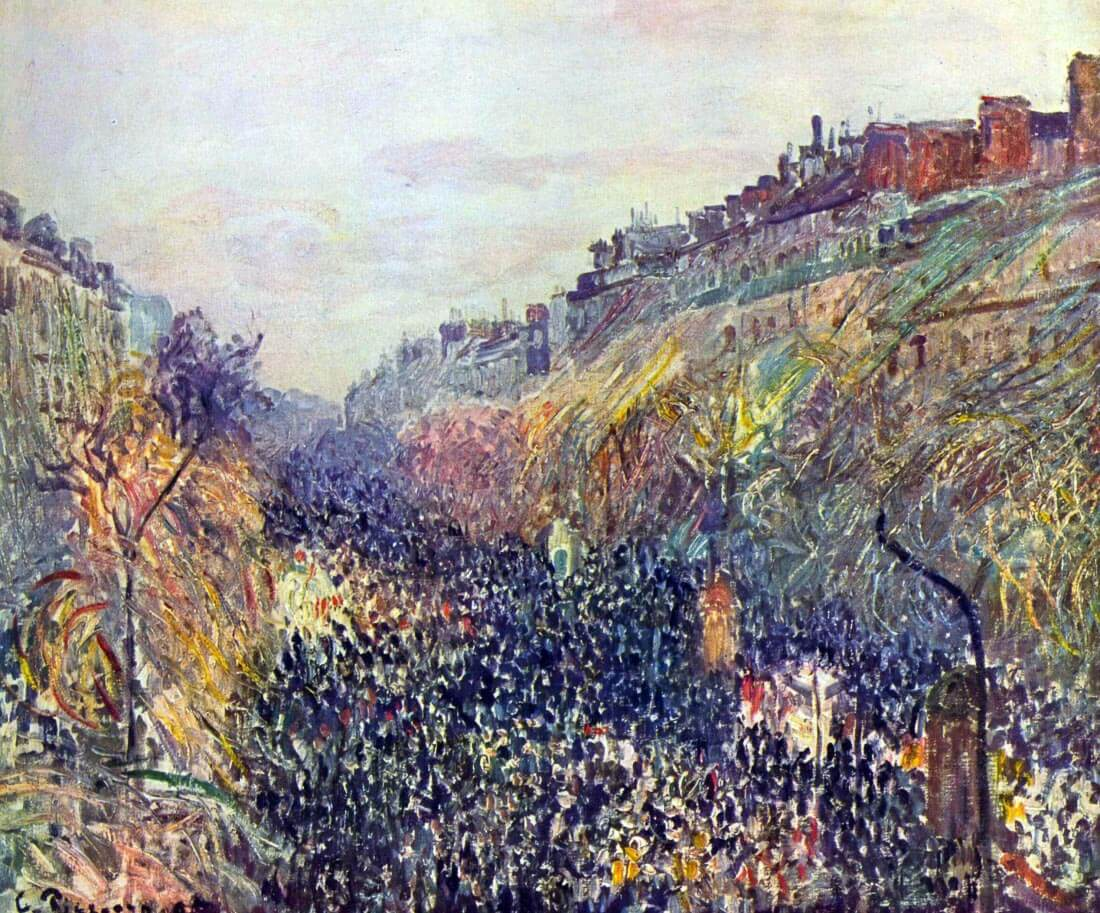 Tuesday on the Boulevard Montmartre at sunset - Pissarro