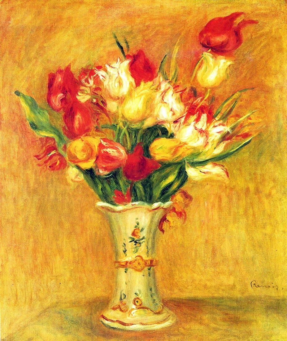 Tulips in a Vase - Renoir