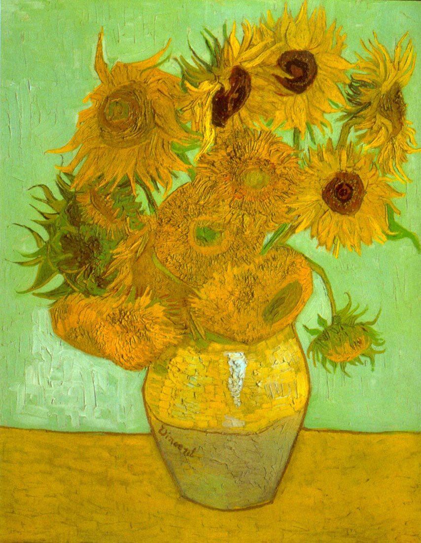 Twelve Sunflowers - Van Gogh