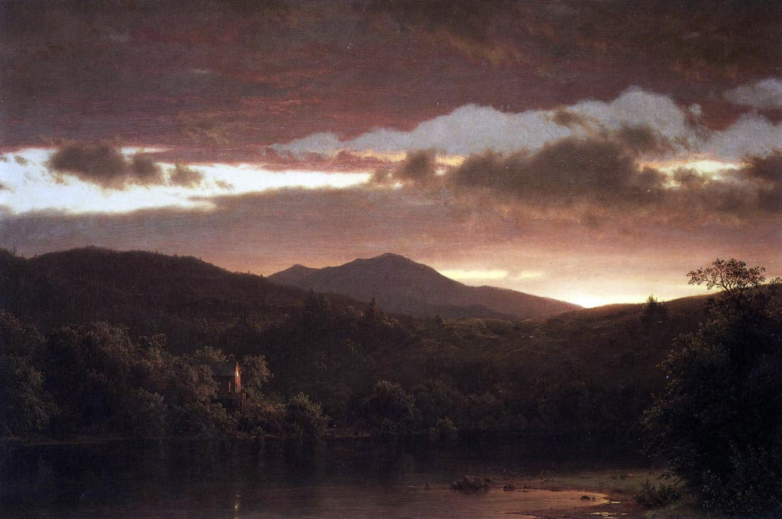 Twilight (Catskill Mountain) - Frederick Edwin Church