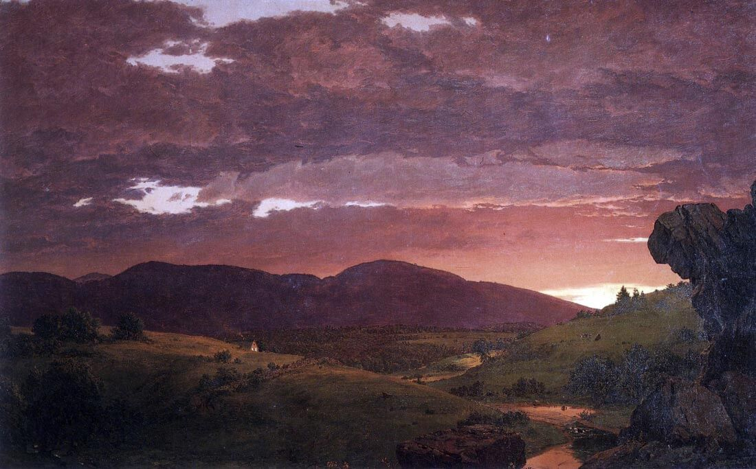 Twilight twixt day and night - Frederick Edwin Church