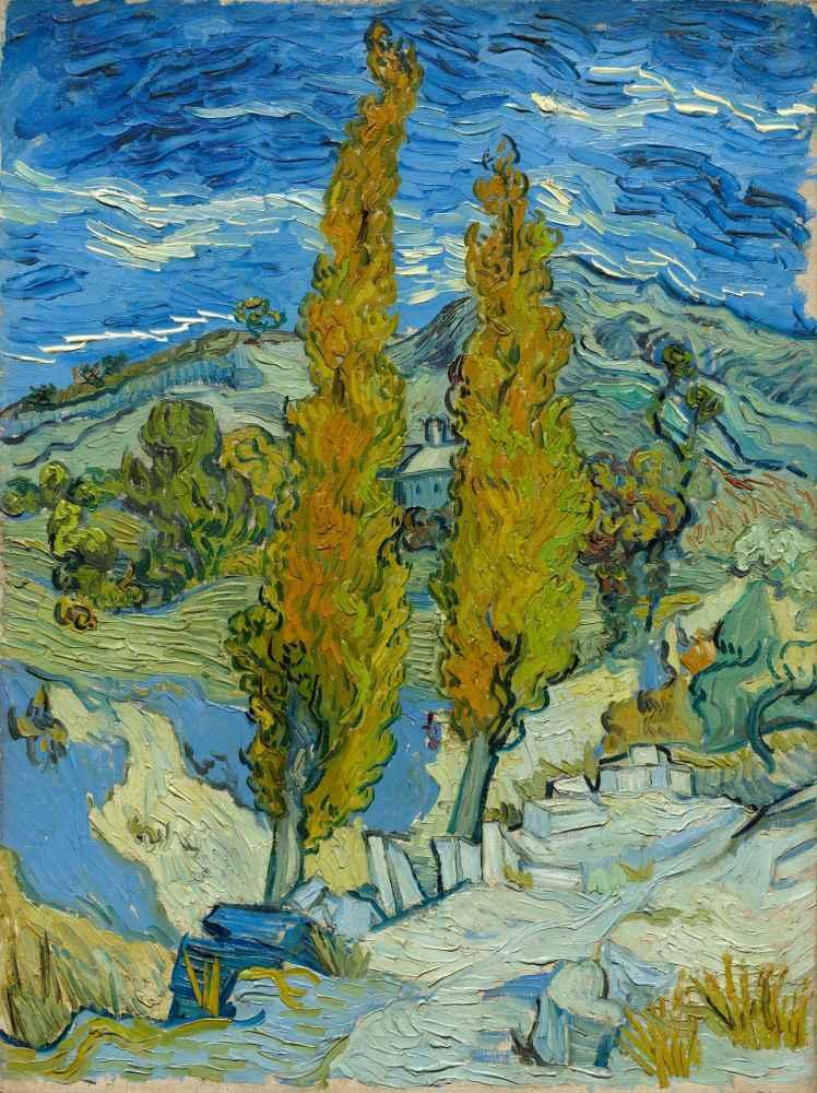 Two Poplars in the Alpilles near Saint-Rémy - Vincent van Gogh